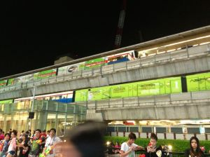 skytrain at Siam Paragon