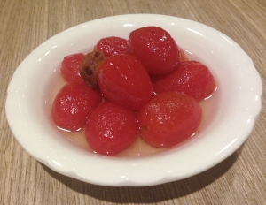 tomatoes in plum juice