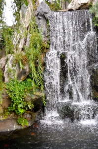 waterfall at Longshan Temple