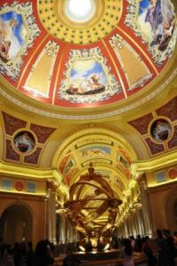 inside the Venetian casino, Macau