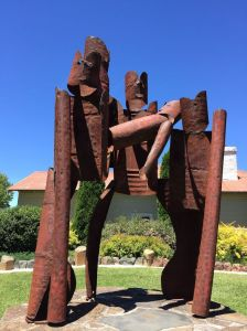 one of many sculptures in Walcha