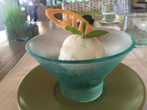 Coconut sorbet at Sardine