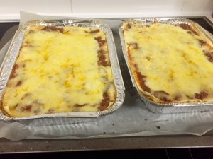 lasagnes bound for the freezer...