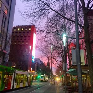 Early morning on Swanston Street #nofilter