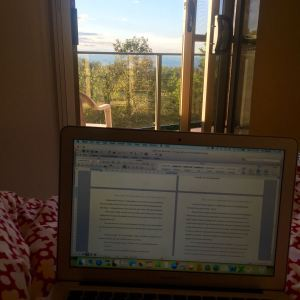 My early morning editing view