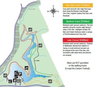 Lake Parramatta walk map