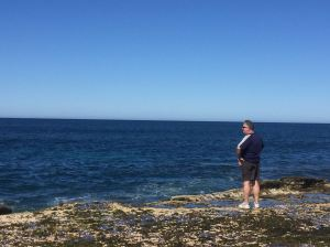 The hubster looking out for whales