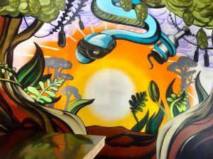 The mural at Social Bandit